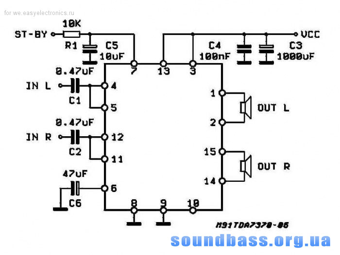 www.amplifiercircuit.info (Audio Amplifier for Car Radio TDA7374B) .